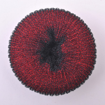 Buñuelo rojo del accesorio del pelo de Shinny (BUN-12)