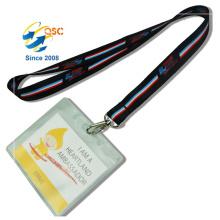 Lanières de courroie de cou de téléphone portable et lanières de transfert de chaleur de support de carte d'identification