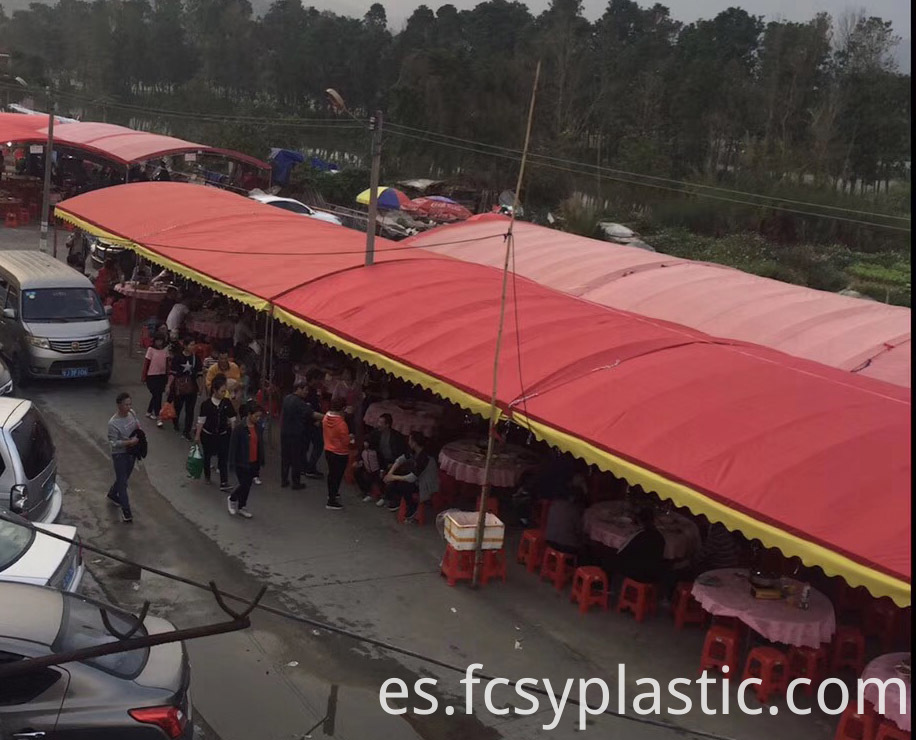red sliver waterproof covering tarpaulin