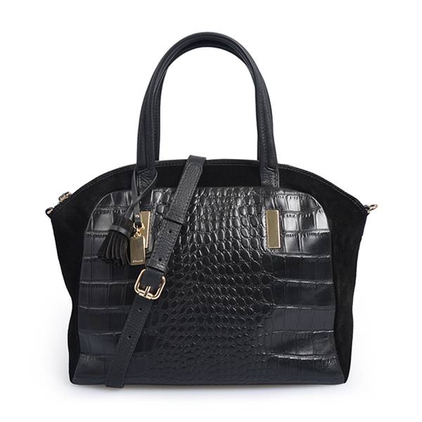 Female Crossbody Shoulder stitching crocodile handbag
