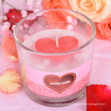 Hot Sale Smokeless Heart-shaped Eco-friendly Valentine's Day Gift scented candles