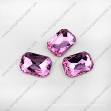 Pierres de cristal en forme d'octogone lâche sans plomb pour la fabrication de bijoux