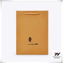 2018 Großhandel Blinkende recyclebar angepasste braune Papiereinkaufstasche