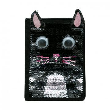 CAT SEQUINS NOTEBOOK -0