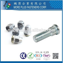 Taiwan Stainless steel 18-8 Chrome plated steel Nickel plated steel Copper Brass Wheel Bolt Wheel Cap Nuts Wheel Nuts