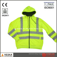 High Visibility Long Sleeve Hooded Safety Sweatshirt