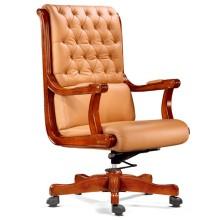Botón Tufted Beige silla de oficina ajustable