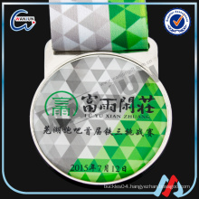 Factory supply epoxy V neck ribbon football medal