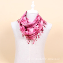 100% wool plaid infinity scarf wholesale