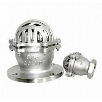 Stainless Steel Flange End Foot Valve