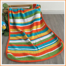 Boutique Soft Touch Throw Rainbow Organic baby blanket