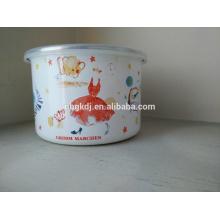 Arco del almacenamiento del esmalte, tazón de fuente blanco del almuerzo con la tapa de los PP