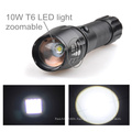 18650 Battery Powered 10w LED Torch Rechargeable