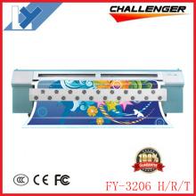 Infiniti/Challenger Solvent Flatbed Printer Fy-3206, 3.2m, with 6 Spt510-35pl Heads Outdoor Digital Solvent Inkjet Printer for Banners.