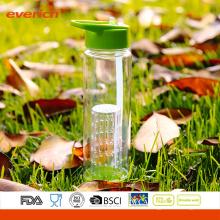 Venta al por mayor botella de agua de infusión de fruta de Tritan de 750 ml con un infuser grande