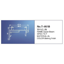 18mm, rail de tête, pièces pour stores, T-051b