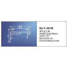 18mm, trilho principal, peças das cortinas de rolo, T-051b