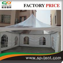 aluminum fair event tent with flame retardant fabric and roll door