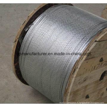 High Tension Hot Dipped Guy Wire Terre fil Fil d'acier galvanisé