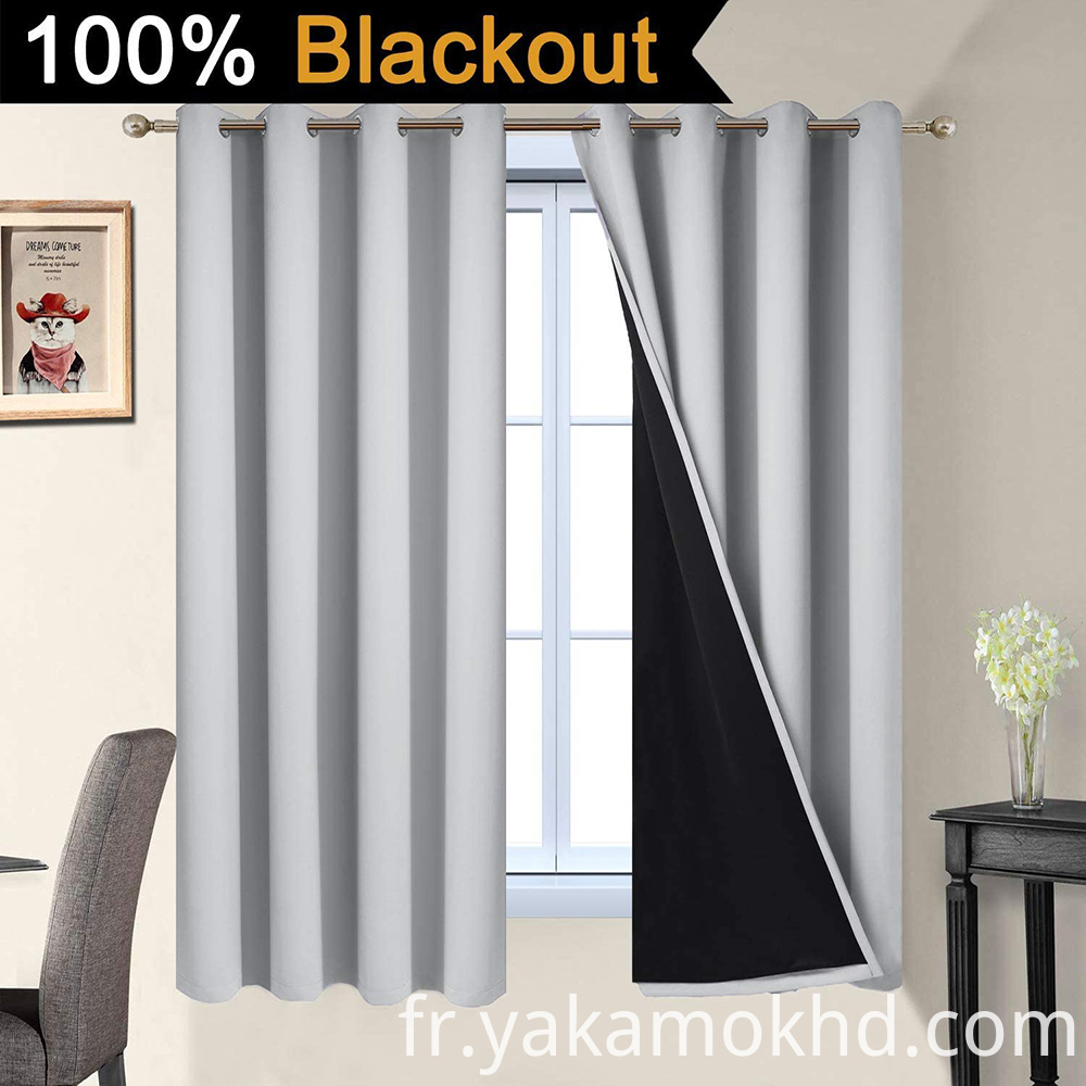 52-63 Light Grey Blackout Curtains