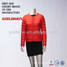 2017 Red outdoor para baixo jaqueta pornô para senhoras sex down jakcet