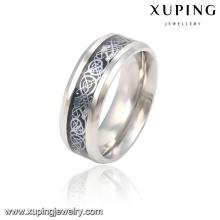 13785 Moda Cool Silver-Plated Aço Inoxidável Jóias Anel de Dedo para Homens