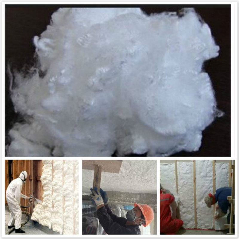 Sprayed Acoustic Insulation Fiberglass Wool Blown in Insulation