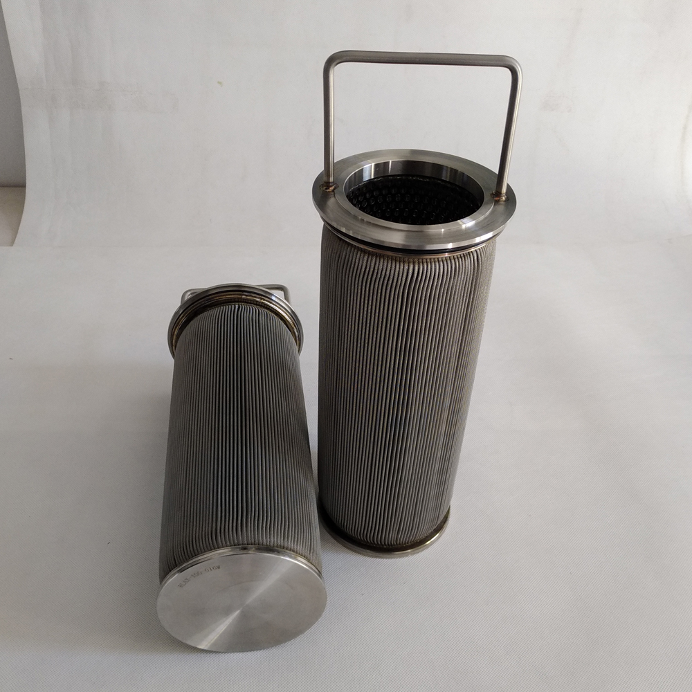 stainless steel sintered felt oil filter