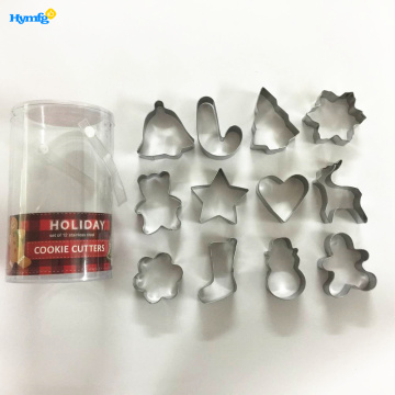 Metal 12pcs Cookie Biscuit Cutter Set Navidad