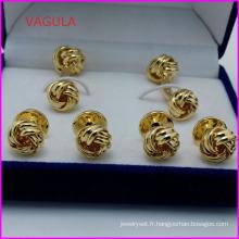 VAGULA qualité gros noeud goujons Collier boutons boutons de manchette Hl161284
