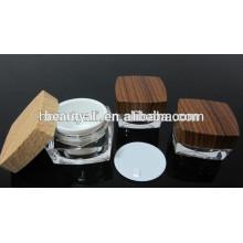 5g 15g 30g 50g 100g Двойная стена акриловая деревянная косметическая банка Jar деревянная сливк для оптовой продажи