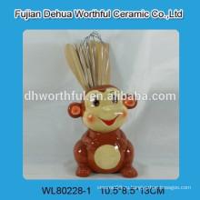 Держатель керамической обезьяны для кухни