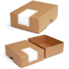 Cajas de regalo marrones de papel Kraft marrón Kraft