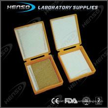 Caixa de slides do microscópio