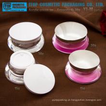 Série YJ-M 15g 30g única rodada personalizável jarra de acrílico transparente
