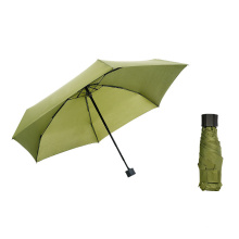 Cheap Folding Light Weight Anti UV Rain Mini 5 Fold Capsule Umbrella
