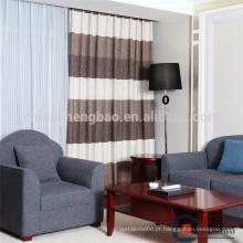 Cortinas e cortinas modernas modernas de patchwork de linho