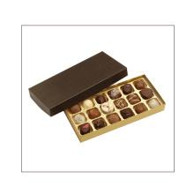 Caixa de embalagem de presente de chocolate de papelão de madeira artesanal