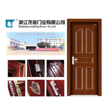 Puerta de acero interior de madera (LTG-115)