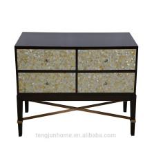CANOSA 2016 Золотая перламутровая инкрустированная древесина Шкаф для хранения мебели для гостиной