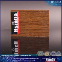 Revêtement de poudre de transfert de chaleur d'effet en bois d'imitation élevée