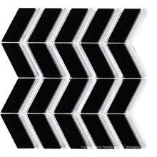 Black and White Crystal Glass Mosaic for Deco Wall