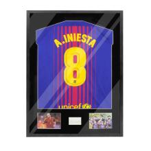 Custom Wall Mount Lockable Transparent 98% UV Protection Acrylic Football shadow box jersey display frame