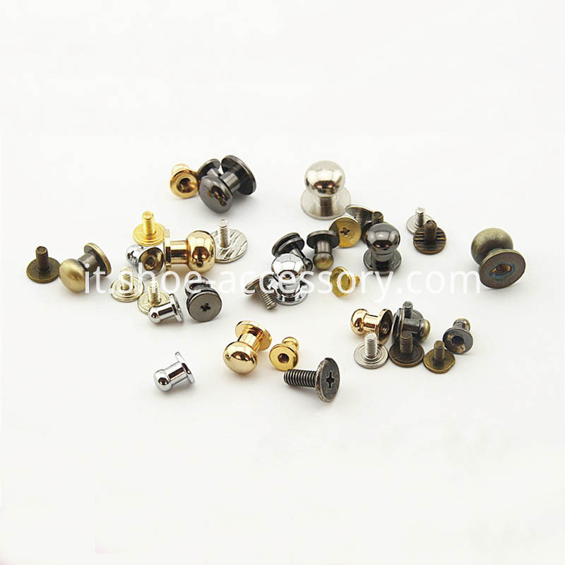 Brass Leather Studs Buttons Cap Rivets