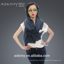 100% Wholesale wool fabric wholesale comfortable lady scarf