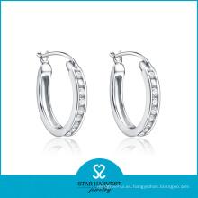Pendiente de aro de plata de boda (SH-E0235)
