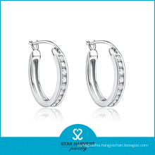 Wedding Silver Hoop Earring (SH-E0235)