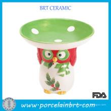 Unique Owl Decoration Small Ceramic Candy Dish