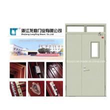 Doble batiente hoja cortafuego puerta acero, puerta incombustible