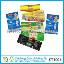 Custom self-adhesive printed barcode label